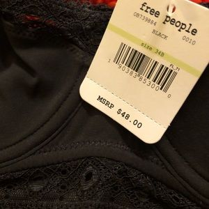 Free People Intimates & Sleepwear - Free people black lace bustier bra